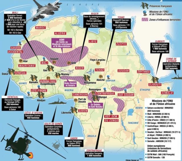 Les bases militaires françaises en Afrique