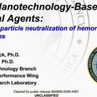 D'après un document déclassifié de l'armée américaine, le nano-argent peut neutraliser le virus Ebola