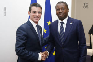 Faure Gnassingbé et Manuel Valls au Bourget, en marge du COP21, lundi 30 novembre 2015 | Photo : RT