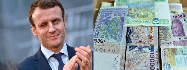 Macron clin d'oeil FCFA JPEG