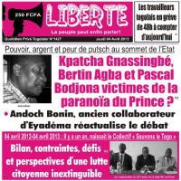 Quotidien Togolais Liberté N°1427